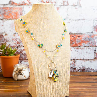 necklace, handmade, earrings, original, flowers, charms, multi strand, jewellery, jewelry, accessories, fashion